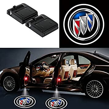 Bearfire 2 Pcs Wireless Car Door Led Welcome Laser Projector Logo Light Ghost Shadow Light Lamp Logos fit Mitsubishi