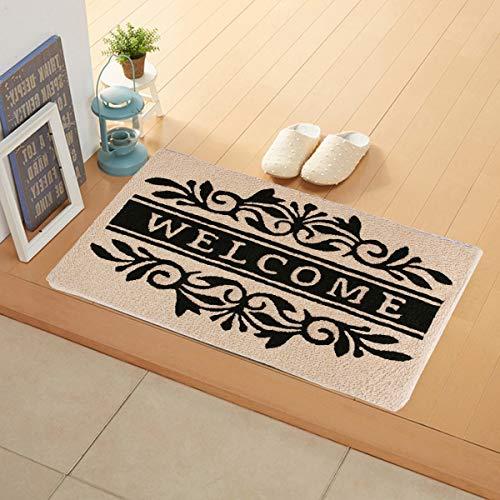 - Flying Frog Indoor Doormat with Non-Slip - Scroll Welcome Indoor Mat - Sassafras Switch Mat - Door Mat for Inside Shoes Scraper - 31.5