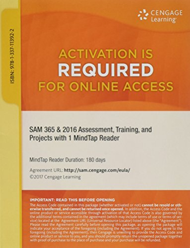 SAM 365 & 2016 Assessments, Trainings, and Projects Printed Access Card with Access to 1 MindTap Reader for 6 months