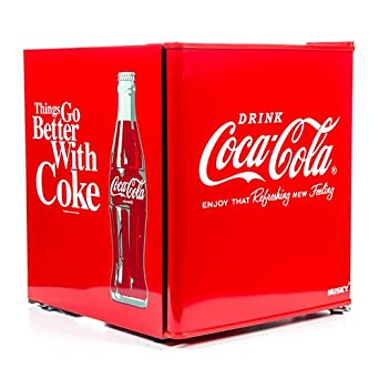 Coca Cola Fridge >> Husky Hus El196 Coca Cola Design Mini Fridge Drinks Cooler Red