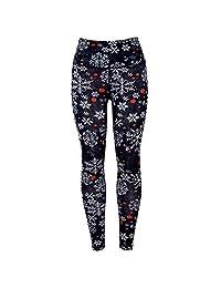 FTVOGUE Women Christmas Style High Waist Tight Legging Workout Sports Yoga Pants