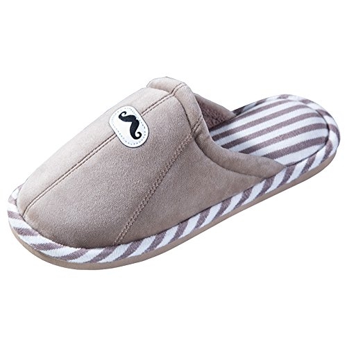 Slippers Warm Anti Indoor Keep Winter Eastlion Women's House Knot Home skid Fleece Brown Bow Slippers qawOzpwR