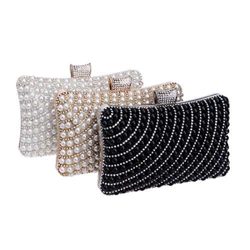 bag evening Bag And Bag Pearl Bag Fly Hand Black Ladies Evening Gold Color Banquet Evening Women's Fashion TqOxp7w8n