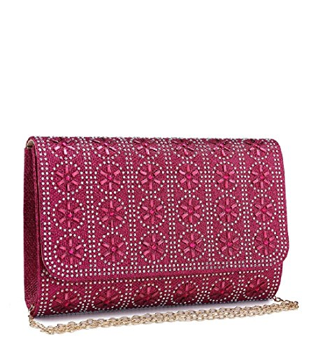 Women's Envelope Clutch Party Glitter Ladies Handbag Black Diamante Evening ME68030 Bag nTI1EWHq