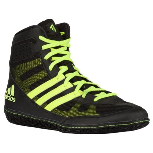 Adidas Mat Wizard David Taylor Edition Wrestling Shoes Black/Solar Yellow Size 9