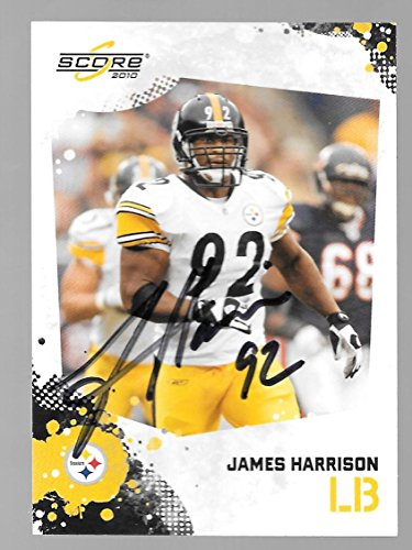 James Harrison Pittsburgh Steelers Autographed Signed 2010 Panini card -- COA - (Near Mint Condition)5