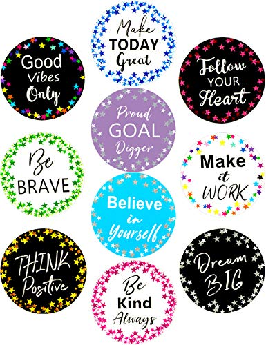 Classroom Bulletin Board Decoration Cutouts 20Pcs Confetti Stars Positive Sayings Accents for School Kids Room -