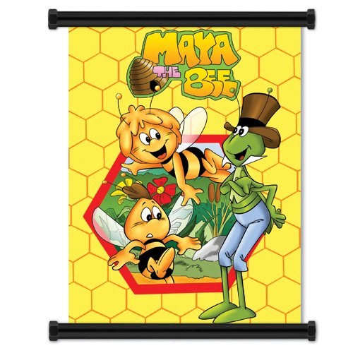 Maya the Bee: Cloth Wall Scroll Poster (32 x 42 inches)