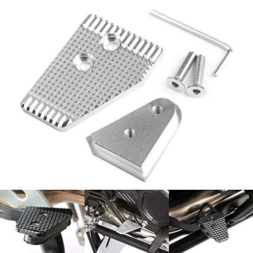 Bruce & Shark Aluminium remhendel achter vergroten zilver geschikt voor B-M-W R1200Gs Adventure Lc 2013-2018