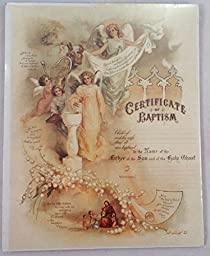 Turn of the Century Certificate of Baptism Child of God Baby Old Print Factory #CRT018