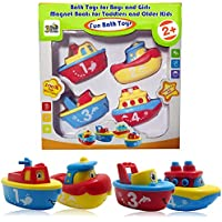 3 Bees & Me Bath Toys for Boys and Girls - Magnet Boat...
