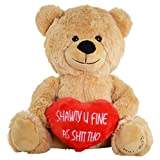 #3: Hollabears Shawty U Fine As Shit Tho Teddy Bear - Funny and Cute Valentine's Day Gift for Girlfriend, Boyfriend or Best Friends