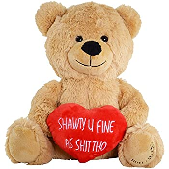Amazon Com Hollabears Shawty U Fine As Shit Tho Teddy Bear Funny