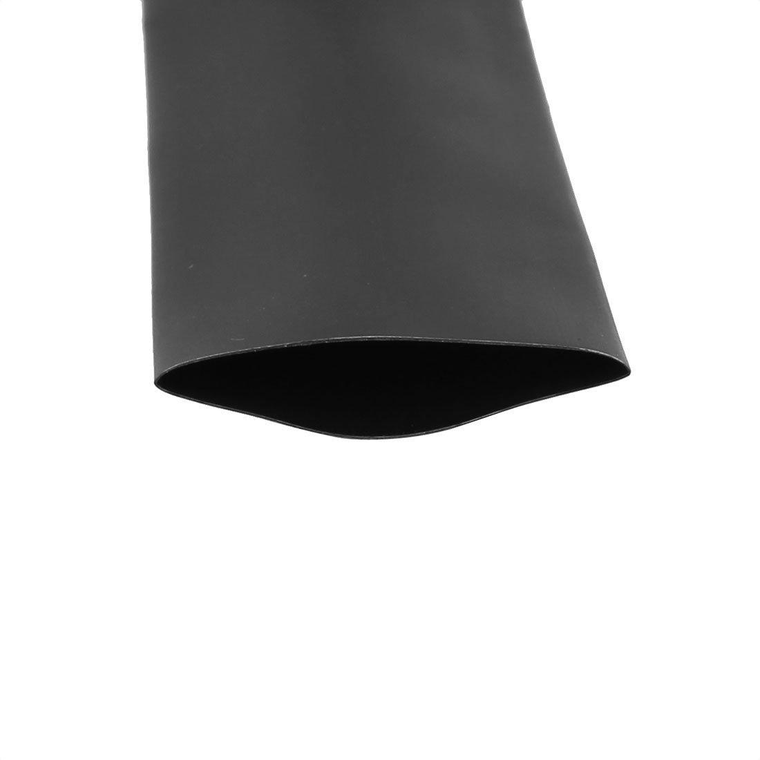 1/Gaine thermor/étractable Tuyau Sleeving Wire C/âble Noir 2/m Longueur Deal Mux 25/mm de diam/ètre 2