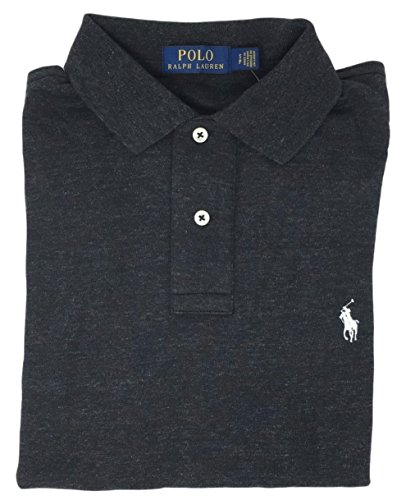 Polo Ralph Lauren Men Medium Fit Interlock Polo Shirt (XL, Black - Mens Polo Lauren Ralph