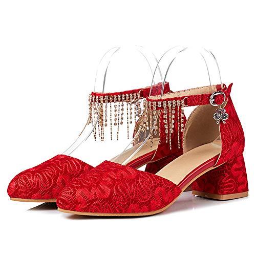 Zeppa Red AdeeSu Sandali 35 Rosso SLC04358 Donna con FYFqxt4wZ
