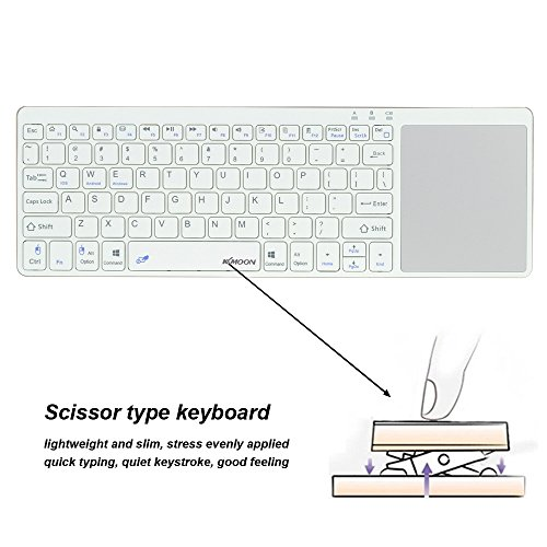 Kkmoon Portable Ultra Thin Bluetooth 3.0 Wireless Keyboard with Touchpad for iPhone 6s/iPad Pro/MacBook Mobile Phone Tablet PC (Ultra Mobile Tablet)