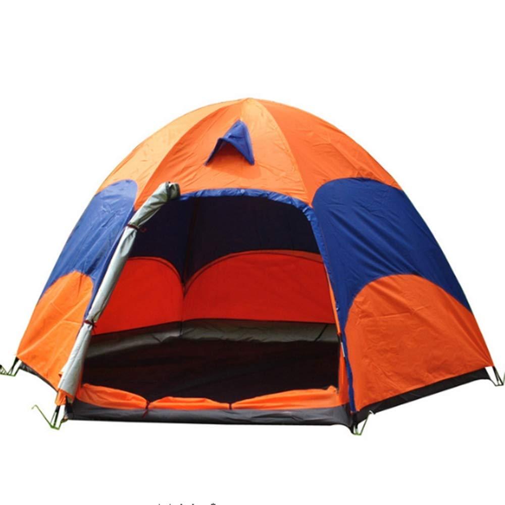 HOUER Tente De Camping Hexagonale Grande Tente Extérieure Double Tente d'escalade Tente Pliante  -
