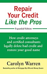 People who say credit repair doesn't work are the people who are going about it the wrong way, the amateur's way. If you want to achieve maximum success in getting mistakes of the past deleted and restoring your good name so that you can qual...