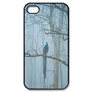 Best Quality [LILYALEX PHONE CASE] Peacock Flaunting Its Tail For Iphone 4 4SCASE-15