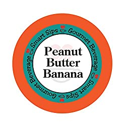 Smart Sips, Peanut Butter Banana Flavored Coffee, 24 Count, Compatible With All Keurig K-cup Brewers made by Smart Sips