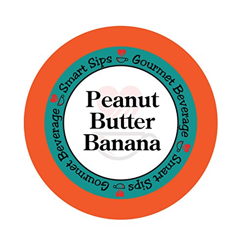 - Smart Sips, Peanut Butter Banana Flavored Coffee, 24 Count, Compatible With All Keurig K-cup Brewers