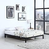 "Divano Roma Furniture Modern 8"" Low Metal Platform Bed Frame/Mattress Foundation (Queen, Black)"