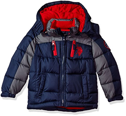 US Polo Association Little Boys' Bubble Jacket (More Styles Available), UB13-Navy, 5/6 (Jacket Kids)