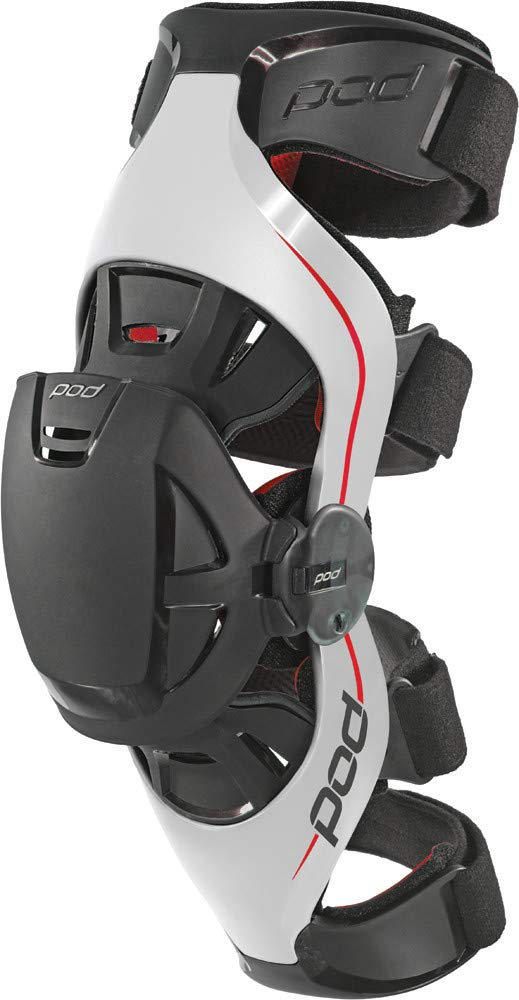 POD Unisex-Adult K4 Knee Brace (Grey/Red, X-Small/Small) (Right)