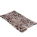 "Large Thermal Pet Bed Mat by Easyology - Self Warming Crate Pad for Dogs and Cats - Reflective Core and Non Electric - 100% Pet Friendly (31.5"" x 17.3"") GIRAFFE"