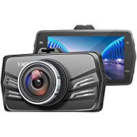 XME 3.0 LCD Full HD 1080P Car Dashboard Camera DVR Video Recorder with 170 Degree Wide Angle & Motion Detection & G-Sensor & Parking Mode & Loop Recording & More (Black)