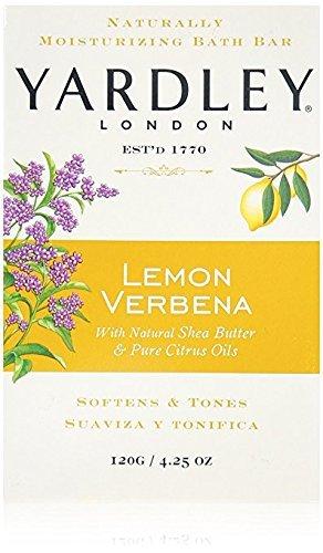 Yardley London Lemon Verbena With Shea Butter & Pure Citrus Oil Moisturizing Bar 4.25 ozr (Pack of 1)
