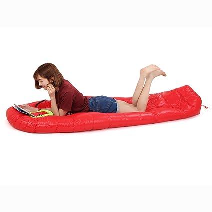 Kingentle Ultraligero Saco de Dormir Tipo Momia, plumón de pato, para las 4 temporadas,a prueba de agua, Saco de compresión (rojo(1000g plumón de pato)): ...