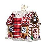 Old World Christmas Gingerbread Barn Glass Blown Ornament
