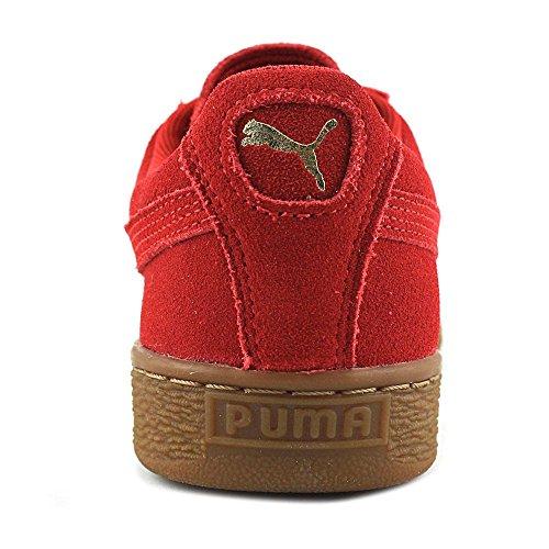 Sneaker Classica In Pelle Scamosciata Da Donna Puma Color Ciliegia / Oro