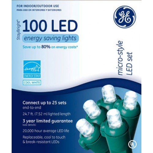 Ge 100 Count White Led Christmas Net Lights in US - 2