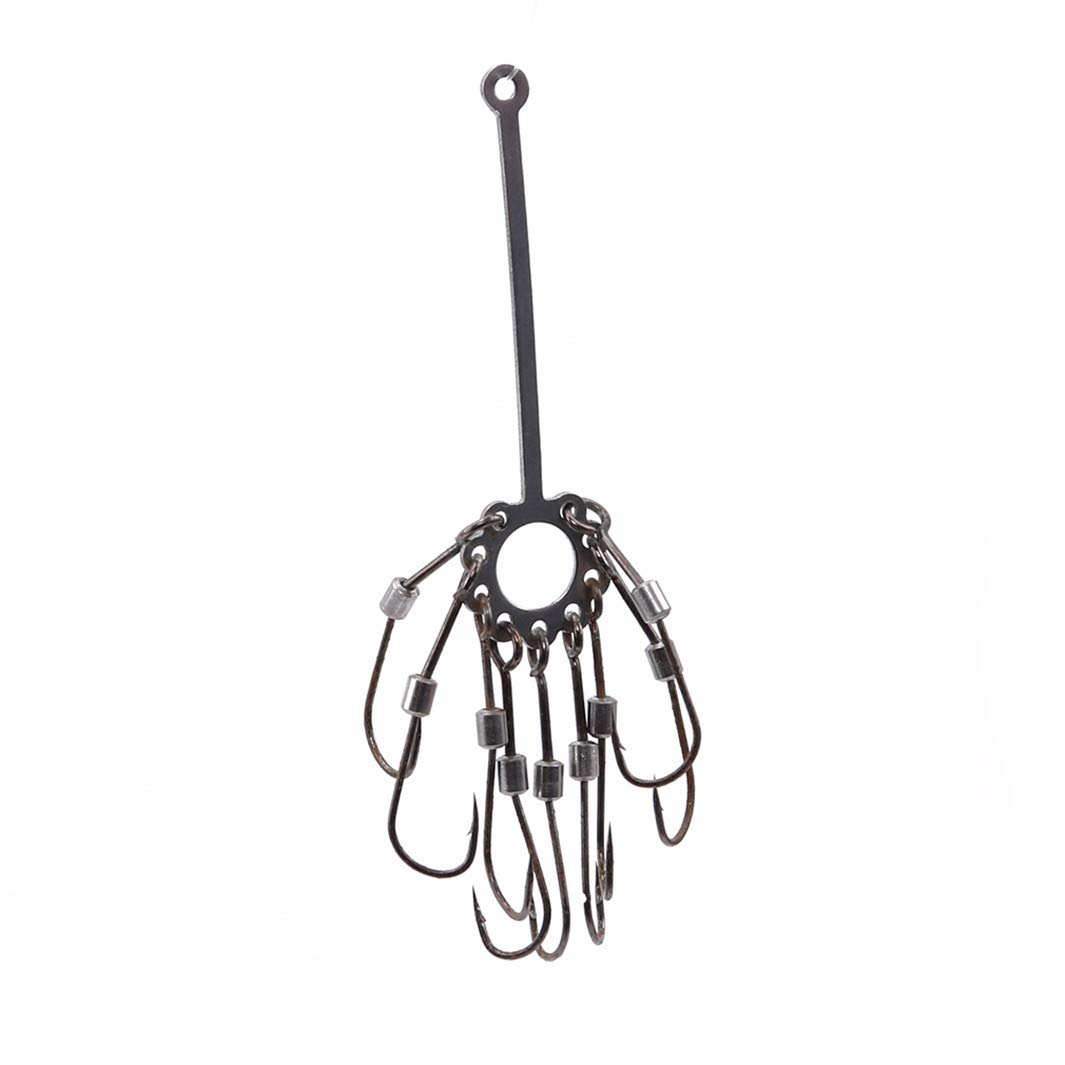 YouCY Metal Fishhook Strong Force Explosion Fishing Hook Iron Carp Fishing Tackle Creative Fishing Hook Barbed Fishing Accessories,6#