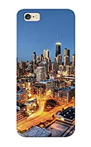 Chishagess Series Skin Case Cover Ikey Case For Iphone 6 Plus(chicago Lights)