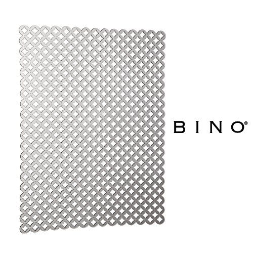 (BINO Anti-Bacterial Kitchen Sink Protector Mat, Grey - Eco-Friendly - Mold and Mildew Resistant Kitchen Sink Mat with Quick Draining Design - Kitchen Sink Mats For Stainless Steel Sink)