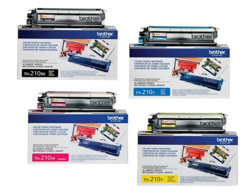 Brother TN-210BK Toner Cartridge ( Black,Cyan,Magenta,Yellow , 4-Pack ) (Brother Mfc9325 Toner)