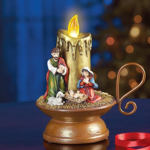 Collections Lighted Christmas Musical Nativity Candle ()