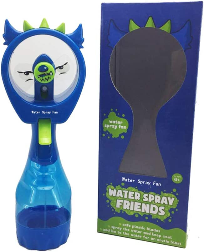 Handheld Misting Fan Mini Personal Portable Water Spray Fan Battery Operated Fan Personal Misting Bottle Portable Handheld Fan Batteries Included Held Cooling Mister Blower Perfect for Outdoor, Blue