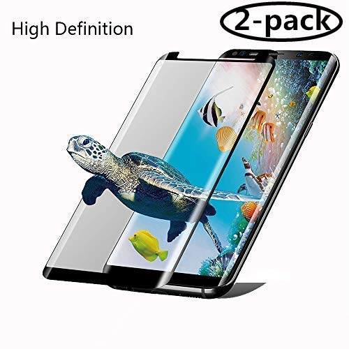 [2-Pack] Galaxy S8 Plus Screen Protector Glass, 3D Curved [Tempered Glass] Screen Protector Compatible for Galaxy S8 Plus S8+ [Case Friendly][High Definition]