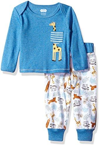 Mud Pie Baby Boys' Safari Long Sleeve Two Piece Play Set, Giraffe, 0-6 ()