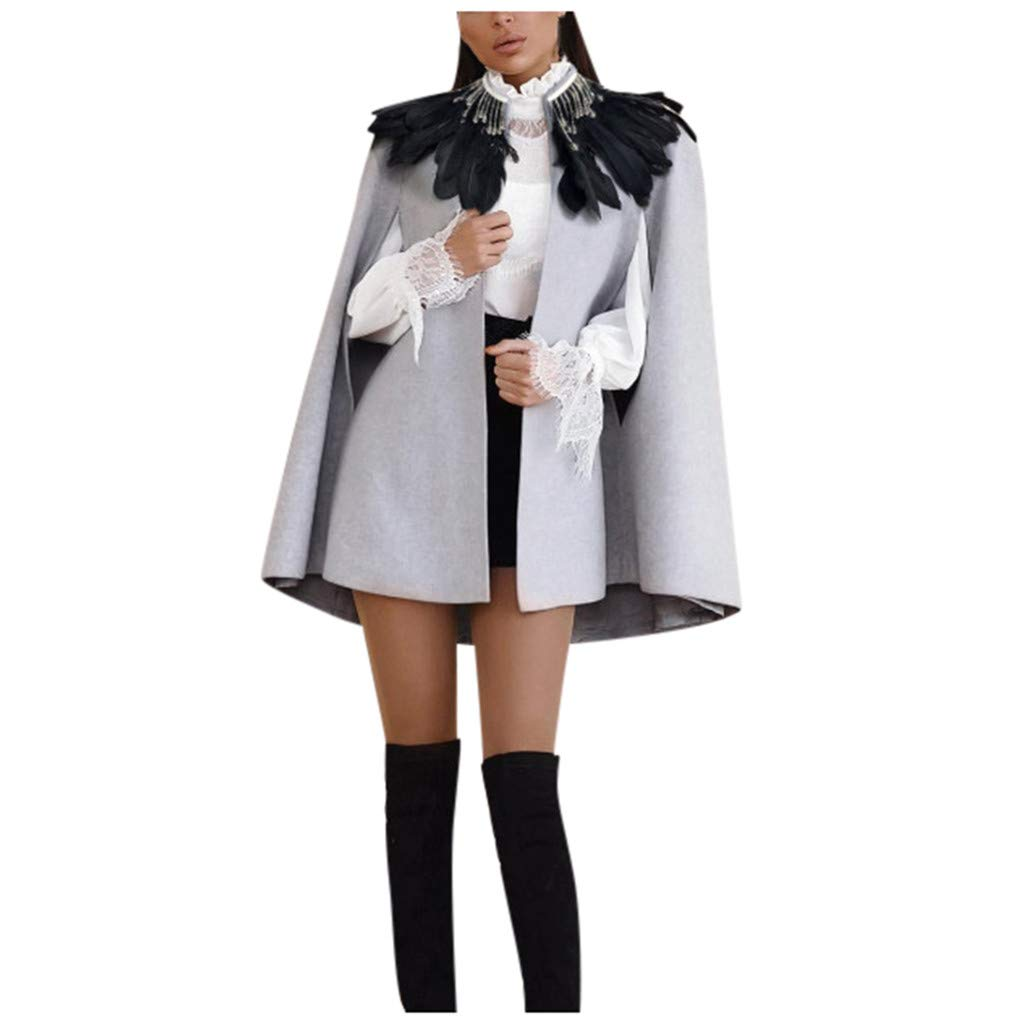 Yanvan Fashion Women Winter Slim Coat Overcoat Mediaeval Cloak Cape Overcoat Full Length Coat by Yanvan