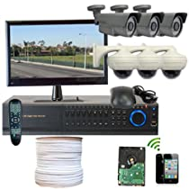 GW Security Inc. 6CHH1 HD-SDI High Definition 8-Channel DVR with 6 x 2.1 Megapixel (Black/White)