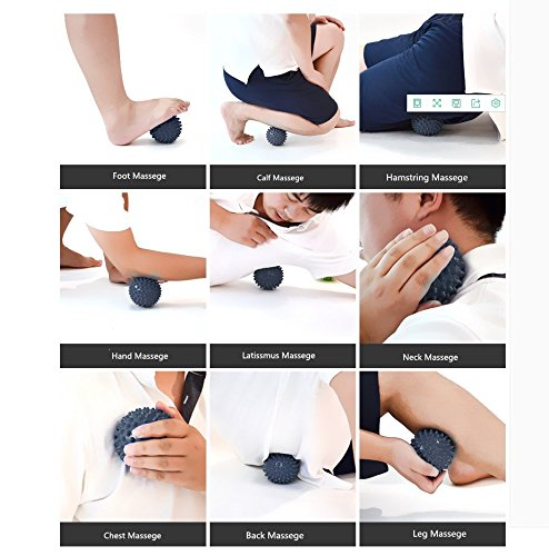 3inch Yoga Muscle Knots Foot Back Neck Trigger Point Massage Ball Roller