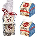 Aspen Mulling Cider Spices Gourmet Drink Mix Two 2.0 Ounce Cartons in a Gift Bag - Kosher Certified and Great Stocking Stuffer Set! (Sugar Free Original)