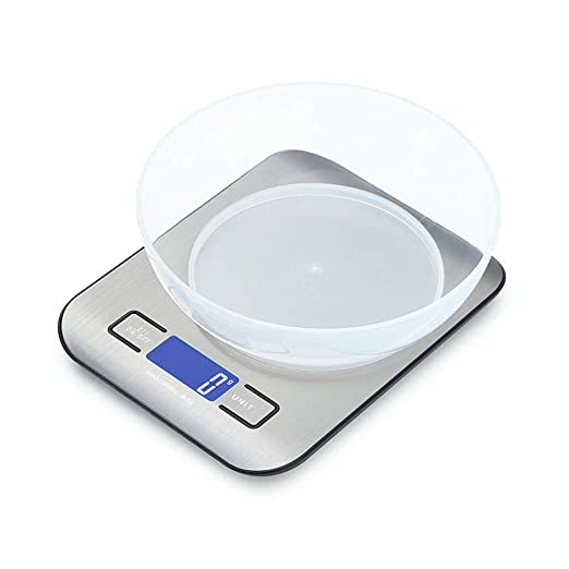 TTXLY Báscula Digital de Cocina, Básculas de Alimentos 11Ib ...