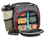 Compra HomEquip Meal Prep Lunch Bag with 6 Portion Control Food Containers: Best Leak-Proof, Canvas, Insulated Cooler / Thermal Tote Bag Set with Shaker Cup- for Work, School, Gym & Picnics, Men & Women en Usame